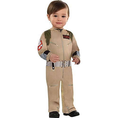 Party City Ghostbusters Halloween Costume for Babies, 12-24M, Includes Printed Jumper with Leg Snaps