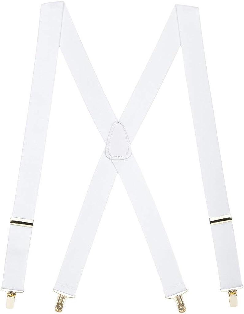 SuspenderStore Men's Brass Clip Suspenders - 1.5 Inch Wide