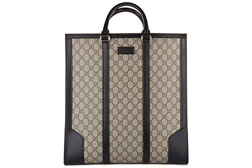 Gucci borsa uomo a mano shopping tote originale gg supreme nero