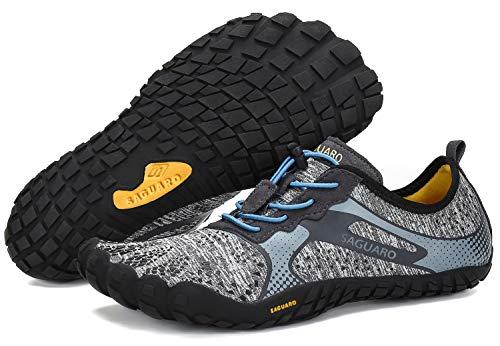 SAGUARO Sommer Outdoor Fitnessschuhe Herren Traillaufschuhe Damen Atmungsaktiv rutschfest Kletterschuhe Grau 48