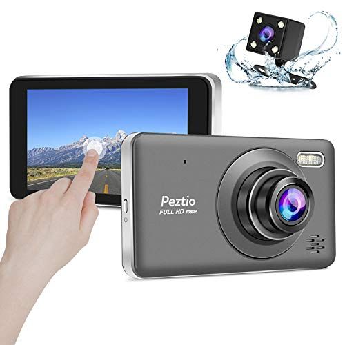 Price comparison product image Dual Dash Cam Front and Rear,  1080p HD Car DVR Dashboard Camera Recorder with Night Vision,  4 inch IPS Touch Screen,  170 Super Wide Angle,  G Sensor,  Parking Monitor,  Motion Detection,  WDR