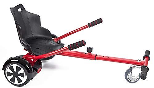 Improv Hoverkart Hoverkart-Sitz für elektrische selbstbalancierende Roller, passend für alle Hoverboard-Größen 16,5 cm, 20,3 cm und 25,4 cm, rot