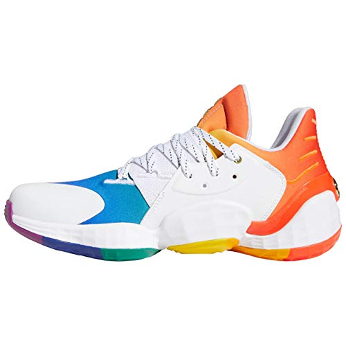 adidas Harden Vol. 4 GCA Pride - Zapatillas de baloncesto para hombre, color Blanco, talla 43 1/3 EU ✅