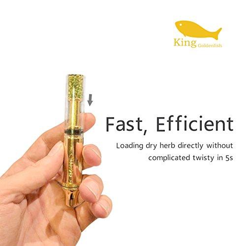 Product Image 5: ATMAN Pipa de Fumar, King Goldenfish Tabaco/Hierba Seca con Tubo de Cuarzo Resistente al Calor Portátil Tubo Desmontable, sin nicotina