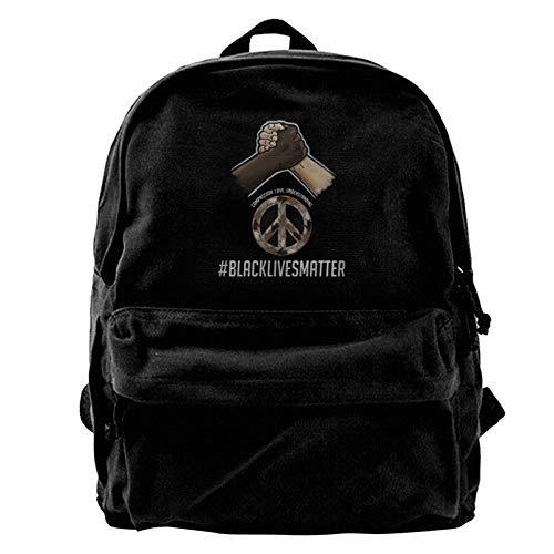 Yuanmeiju Mochila de lona Bubba Wallace 43 Canvas Backpack Lightweight Travel Daypack Student Rucksack Laptop Backpack