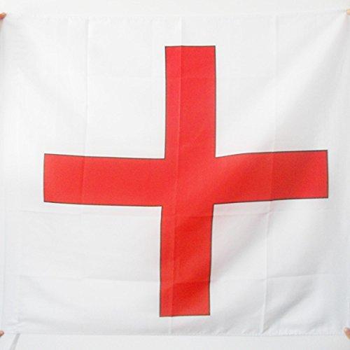 AZ FLAG Drapeau Ordre de Saint-Georges d'Alfama 90x90cm - Drapeau Croix de Saint-Georges 90 x 90 cm Fourreau pour hampe