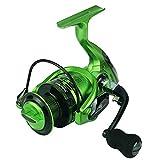 Carretes de spincasting Carrete de pesca Spinning verde con acero inoxidable Rodamientos de bola a...