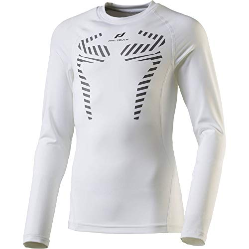 Pro Touch T- Shirt Dilios LS Homme, White/White, FR : S (Taille Fabricant : S)