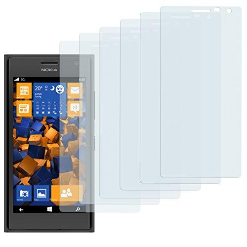 mumbi Schutzfolie kompatibel mit Nokia Lumia 730/735 Folie klar, Bildschirmschutzfolie (6X)