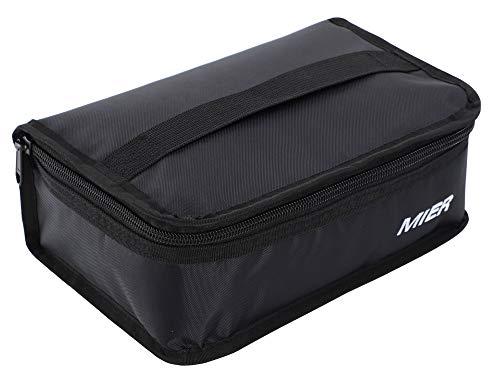 MIER Lunchbox Isoliertasche Kühltasche Provianttasche Reisekit ,(Schwarz 1 Stück), MEHRWEG