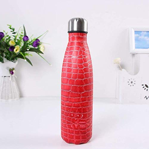 Stainless Steel Water Bottle 350ml/500ml,Metal Water Bottle,Stainless Steel Vacuum Insulated Water Bottle Reusable Double Walled Drinks Bottle -12 Hours Hot,24 Hours Cold,350ml,red