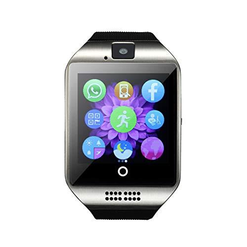 OURLITIME Q18 Smartwatch mit Bluetooth, unterstützt SIM-Karte und TF-Karte mit Bewegungserinnerung, Schlafüberwachung, Kamera-Fernbedienung, Nachrichtenerinnerung, Anti-Verlust