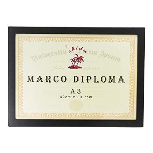Chidu Marco de Madera Negro para Diploma A3 de 42 x 29.7 cm