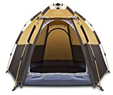 Toogh 3-4 Person Camping Tent Backpacking Tents Hexagon Waterproof Dome Automatic Pop-Up Outdoor Sports Tent Camping Sun Shelters (Renewed)