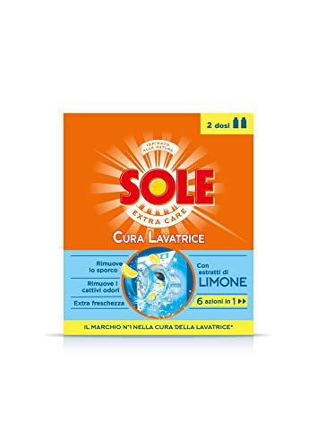 Sole Cura Lavatrice Limone, Freschezza, Multiazione, Confezione da 2 Flaconi da 250 ml