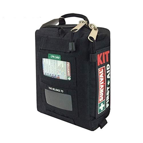 GOXJNG Medizin Box Set Oxford Cloth Erste-Hilfe-Kit Tasche wasserdichte Medizin Container Notfall und Überleben Fall ideal for die Freie Auto Camping (Color : Black)