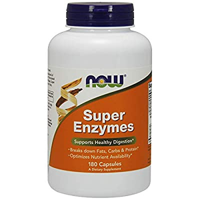 NOW Supplements, Super Enzymes, Formulated with Bromelain, Ox Bile, Pancreatin and Papain, Super Enzymes, 180 Capsules
