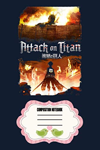 Attack On Titan Keyart OTHUZ Notebook: 120 Wide Lined Pages - 6' x 9' - College Ruled Journal Book, Planner, Diary for Women, Men, Teens, and Children