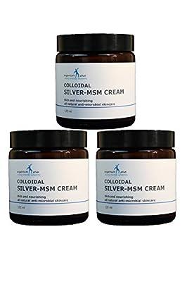 argentum plus - Silver-MSM Cream 3 x 120 ml by Living Energy Systems Ltd