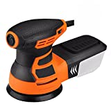 5-Inch Random Orbit Sander 3.0A with 12Pcs Sandpapers, 6 Variable Speed 6000-13000RPM Electric Sander, High Performance Dust Collection System, Sander for Woodworking - PRS01A