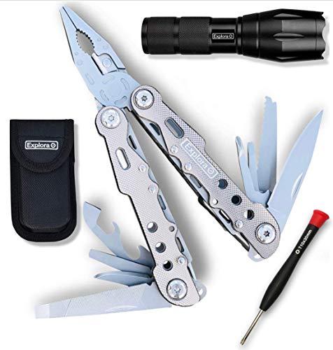 Multitool Knife   Pocket Multi Tool with Sheath   Tactical...