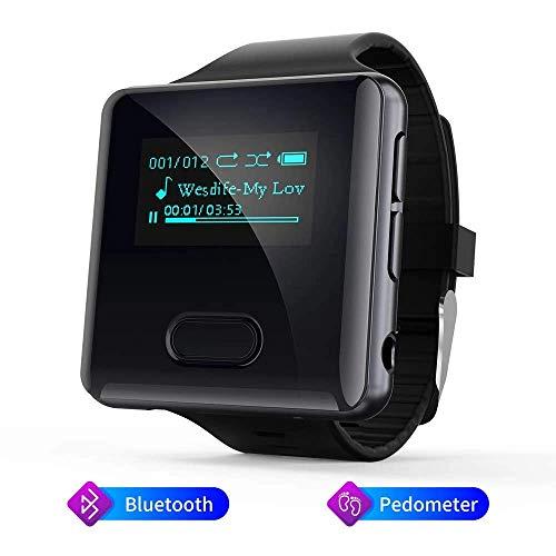 Lettore MP3 Bluetooth 16 gb con Contapassi Lettore MP3 Radio Bluetooth, Running Clip MP3 Player Bluetooth per Correre e Accamparsi Misurare Passi