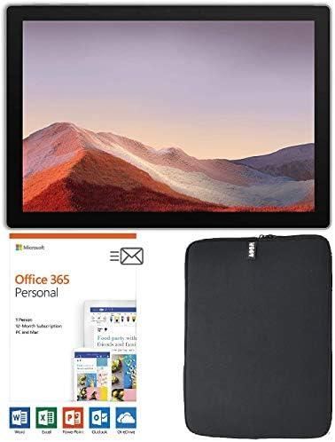 Newest Microsoft Surface Pro 7 12.3 Inch Touchscreen Tablet PC Bundle w/Office 365 (1 Year) & WOOV Sleeve, Intel 10th Gen Core i3, 4GB RAM, 128GB SSD, USB-C, Windows 10, Platinum (Latest Model)