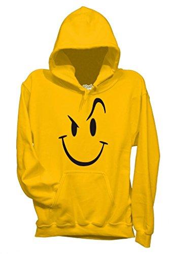 MUSH Sweatshirt Devil Smile - Drole by Dress Your Style - Homme-L-Jaune