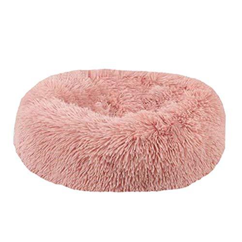 Weesey Cama en Forma de Abeto para Mascotas (Gatos y Perros pequeños), Rosa, 50 cm