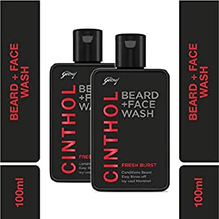 Cinthol Fresh Burst Beard Wash, 100ml (Pack of 2)