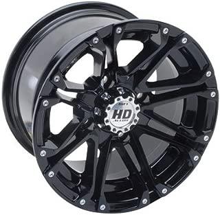 4/110 STI HD3 Alloy Wheel 12x7 2.0 + 5.0 Gloss Black for Kawasaki KFX 400 2003-2006