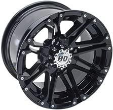 4/156 STI HD3 Alloy Wheel 14x7 4.0 + 3.0 Gloss Black for Polaris RANGER 700 HD 2009
