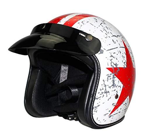 OLEEKA Casco jet Cara abierta Motocicleta Scooter personalizado Mate Negro muchos tipos de colores para elegir