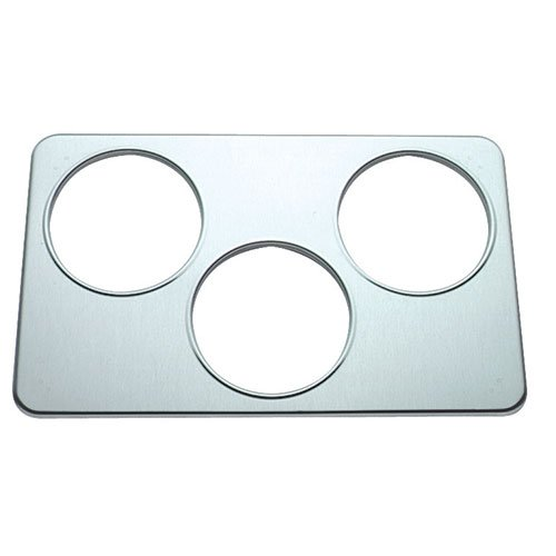 Steam Table Adapter Plate Three 6 1/2inchDiam. Holes 1 Each