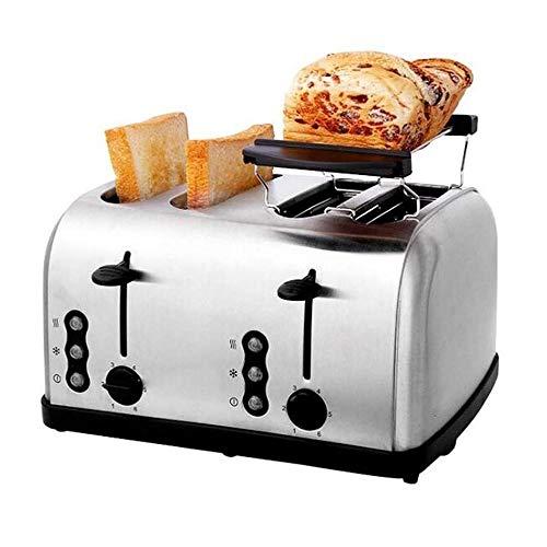 HEMFV 4 Slice Toaster, in Acciaio Inox Pane Bagel Tostapane Extra Largo Slots Toasters con Il Riscaldamento Rack, sbrinamento/Reheat/annullare la Funzione