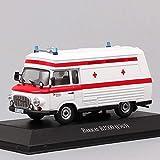 HWGDC Maquetas de Coches 1:43 Ambulancia minibús Furgoneta Vintage Alemania médico diecast Modelo Coche Escala vehículo Juguete