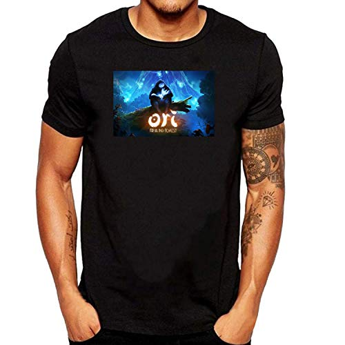 SEVENSIQI Ori And The Blind Forest Uomo Short Sleeve Neck Maglietta/T Shirt Black