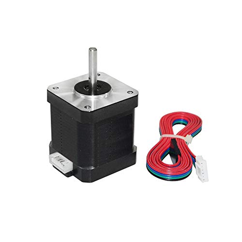 Aibecy 3D Printer Motor 17HS8401S Stepper Motor Core Diameter 5mm Stepping Motors met 100cm Motor Lood Metalen Stepper Motoren voor Machine 3D Printer Onderdelen