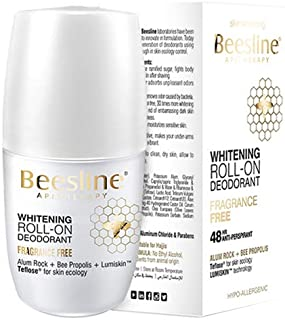 Beesline Whitening Roll-On Deodorant Fragrance Free Pack of 2