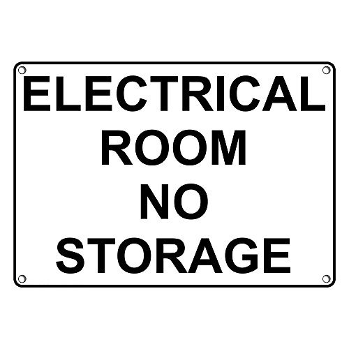 Weatherproof Plastic Electrical Room No Discount mail order Storage Englis with Chicago Mall Sign
