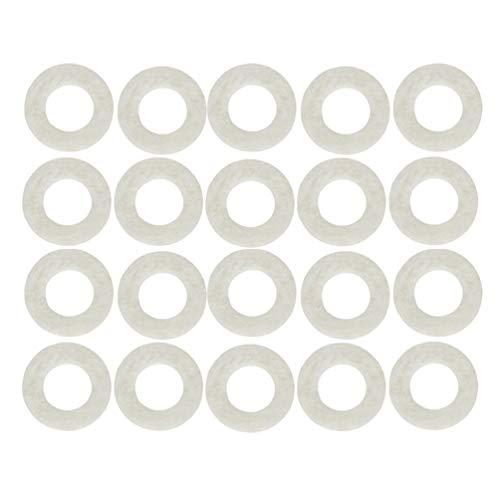 EXCEART 20 Piezas de Arandelas de Fieltro para Trompeta Almohadillas de Fieltro para Trompeta Almohadillas de Fieltro para Válvula de Trompeta Piezas de Repuesto para Trompeta