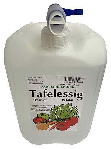 Schleicher's Tafelessig 10% Säure, 10 Liter Kanister MIT AUSLASSHAHN