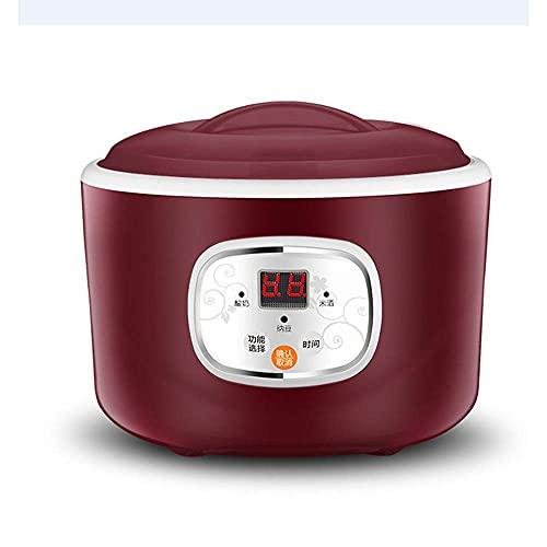 GPWDSN Elektrischer automatischer Joghurtbereiter Thermostatische Küchengeräte Reiswein Natto-Maschine Edelstahl-Liner
