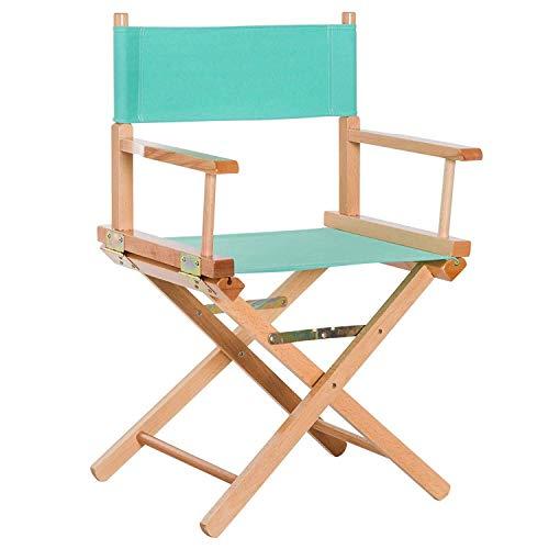 HAIZHEN - Regissörstol inomhus och utomhus bärbar hopfällbar stol kanvas sits ryggbelastning 120 kg