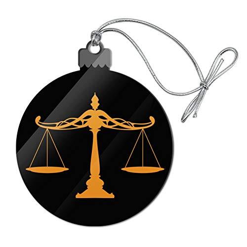 GRAPHICS & MORE Weihnachtsbaumschmuck aus Acryl, Motiv Waagen der Gerechtigkeit, Rechtsanwälte, Weihnachtsdekoration