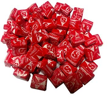 Cherry Starburst Individually Wrapped Fruit Chews - 2 Full Pounds | Red Chewy Taffy Candy| Edible Gift Ideas for Baby & Bridal Showers, Birthday, Color Themed Parties, and Candy Buffets