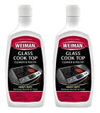 Glass Cooktop Heavy Duty Cleaner and Polish - 20 Ounce - Non-Abrasive No Scratch Induction Glass Ceramic Stove Top Cleaner and Polish (20 Oz Single (2-Pack))