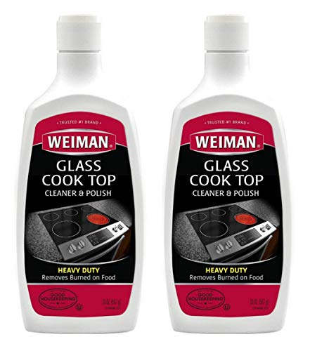 Glass Cooktop Heavy Duty Cleaner and Polish  20 Ounce  NonAbrasive No Scratch Induction Glass Ceramic Stove Top Cleaner and Polish 20 Oz Single 2Pack
