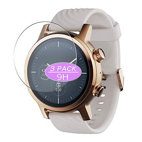 VacFun 3 Piezas Vidrio Templado Protector de Pantalla, compatible con Motorola Moto 360 3rd Gen Smartwatch, 9H Cristal Screen Protector Protectora Reloj Inteligente NEW Version