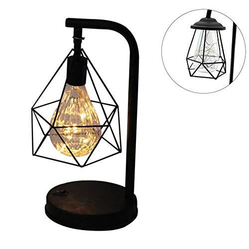 Tafellamp, minimalistisch, bedlampje, modern nachtlampje, werkt op batterijen, met LED-lamp voor kinderkamer (warmwit 3000 K)
